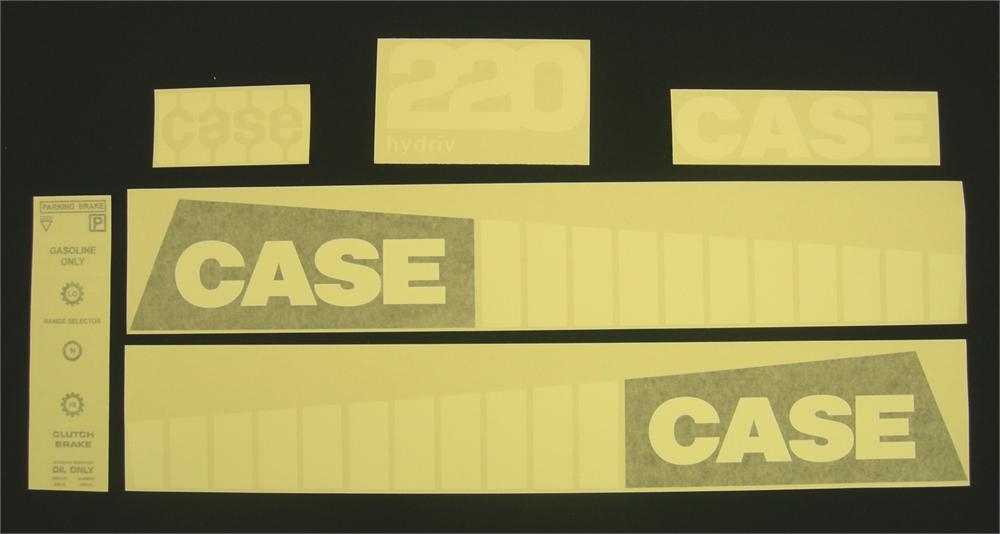 220 Case Decals : Case  and later