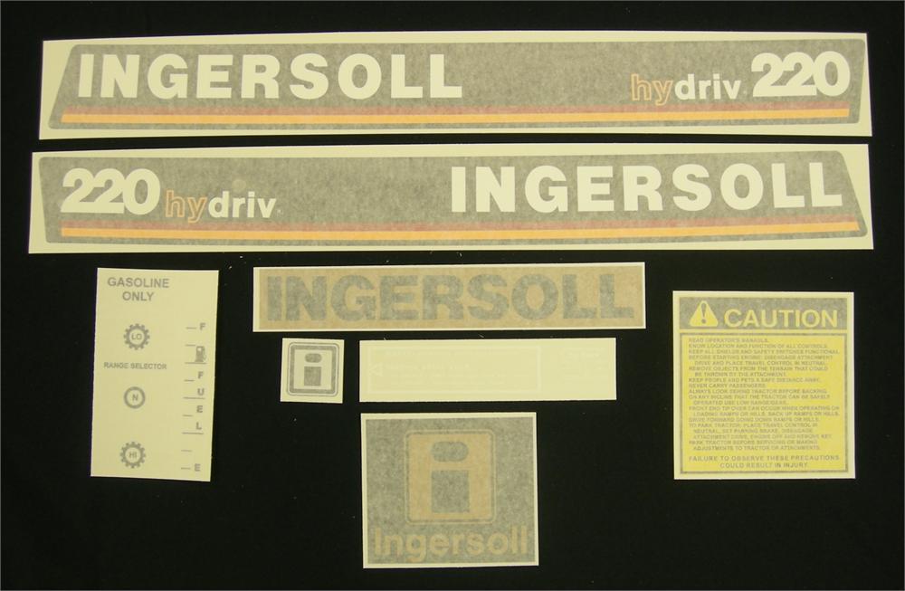 220 Case Decals : Ingersoll decals