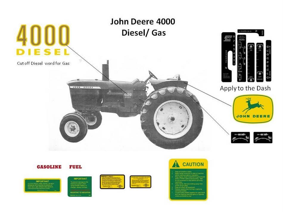 John Deere 4000 Gas  Diesel